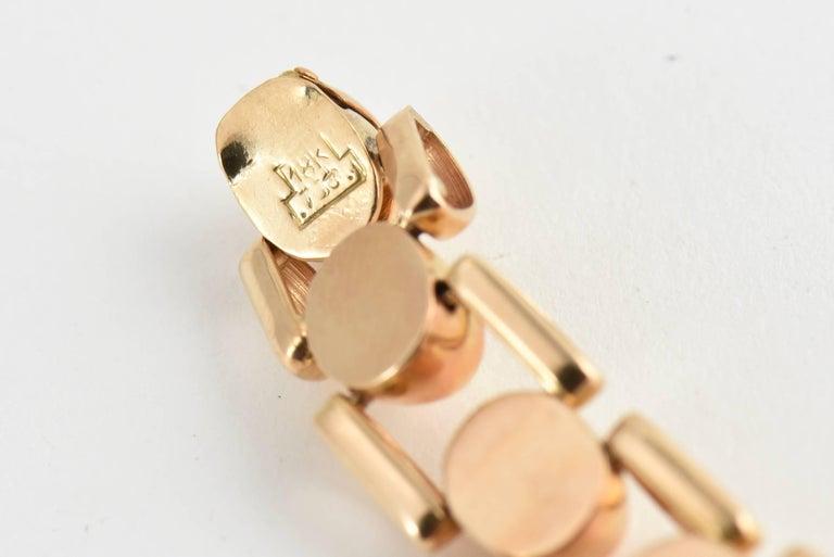 Retro Ladies Rose Gold Diamond Citrine Wristwatch, Circa 1940s For Sale 2