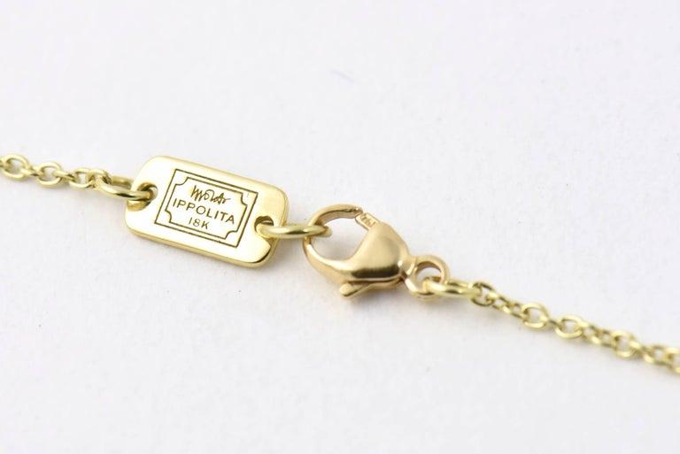 Ippolita Rutilated Quartz, Mother-of-Pearl Gold Ondine Teardrop Necklace For Sale 1