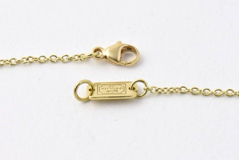 Ippolita Rutilated Quartz, Mother-of-Pearl Gold Ondine Teardrop Necklace For Sale 2