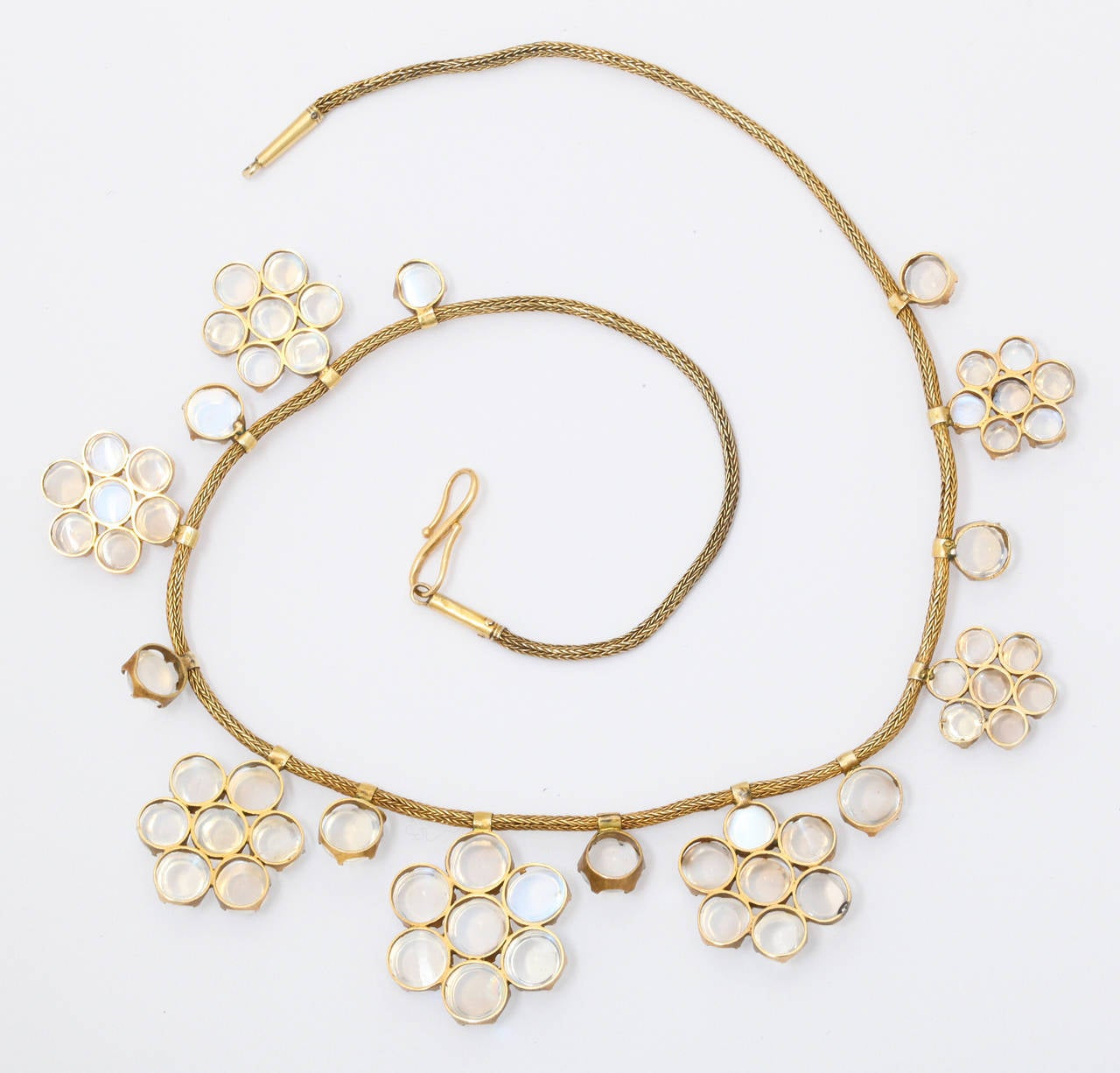 Antique Moonstone Gold Necklace 5