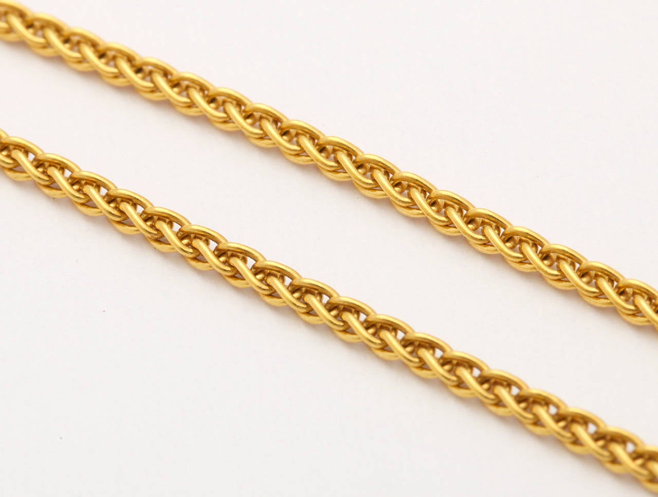 Long Gold Chain With Apple Pendant For Sale 2
