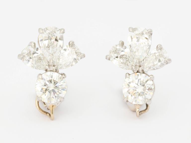 Women's Finest Mandarin Garnet Diamond Platinum Earrings For Sale