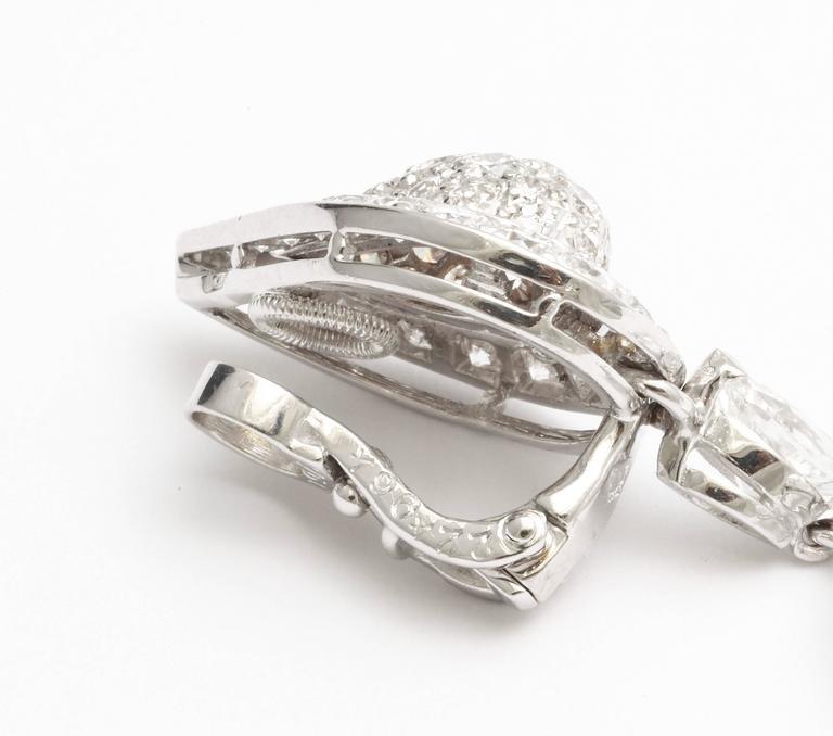 Cartier Diamond Gold Drop Earrings For Sale 2