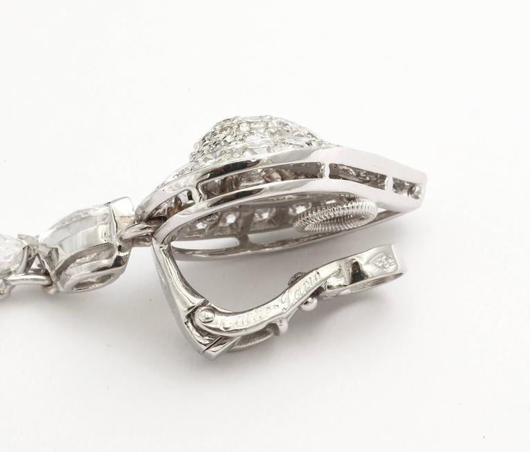 Cartier Diamond Gold Drop Earrings For Sale 1
