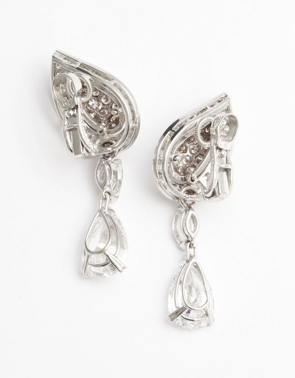 Women's Cartier Diamond Gold Drop Earrings For Sale
