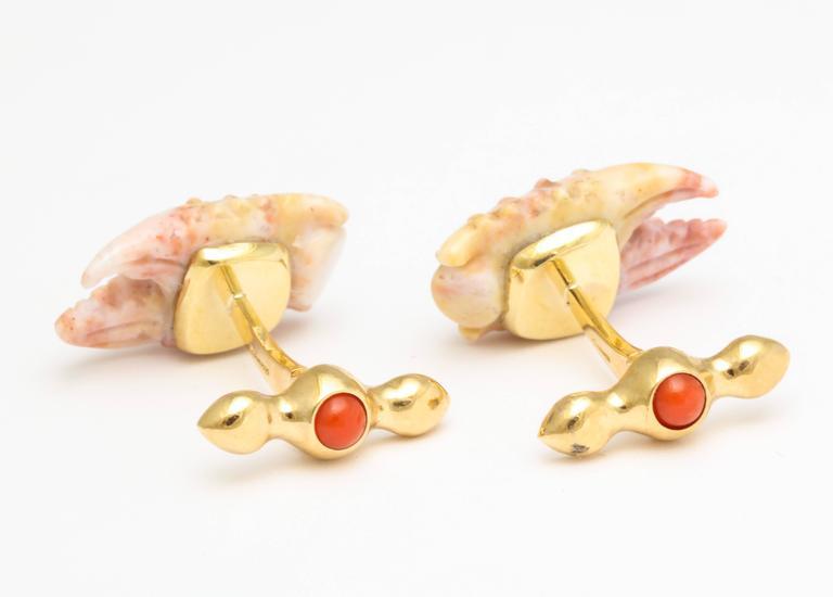 Michael Kanners Stone Crab Claw Cufflinks 4