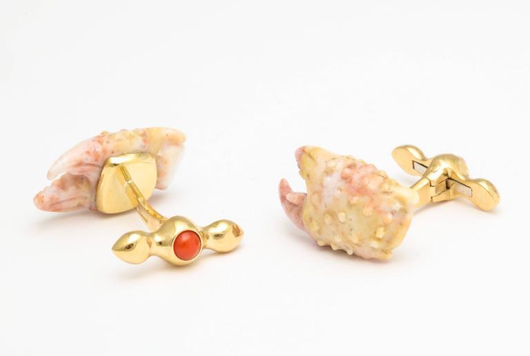 Michael Kanners Stone Crab Claw Cufflinks 7