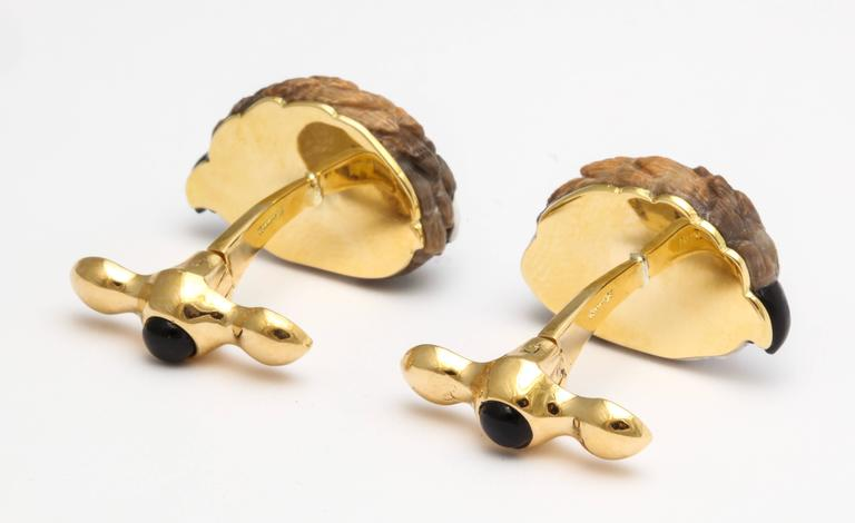 Michael Kanners One of a Kind Quail Cufflinks For Sale 3