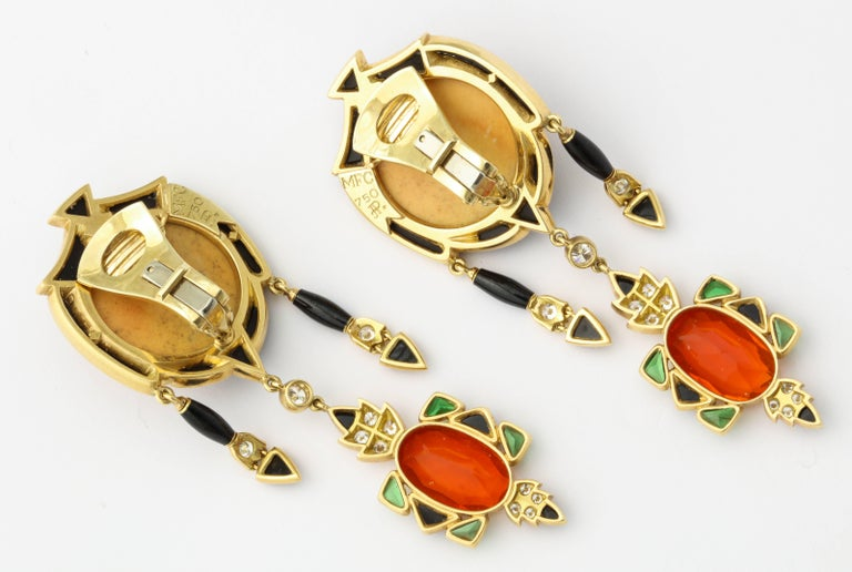 Marilyn Cooperman Japanese God of Fortune Earrings For Sale 1