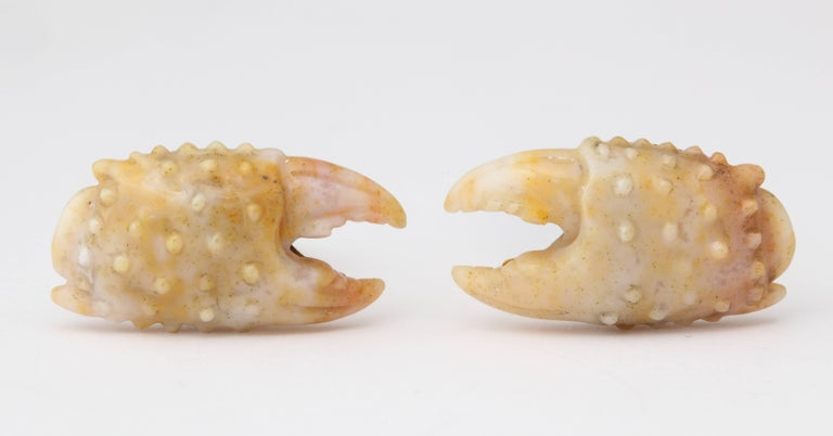Michael Kanners Stone Crab Claw Cufflinks In New Condition For Sale In Bal Harbour, FL