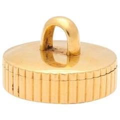 Rare Cartier Paris Retro Gold Pillbox
