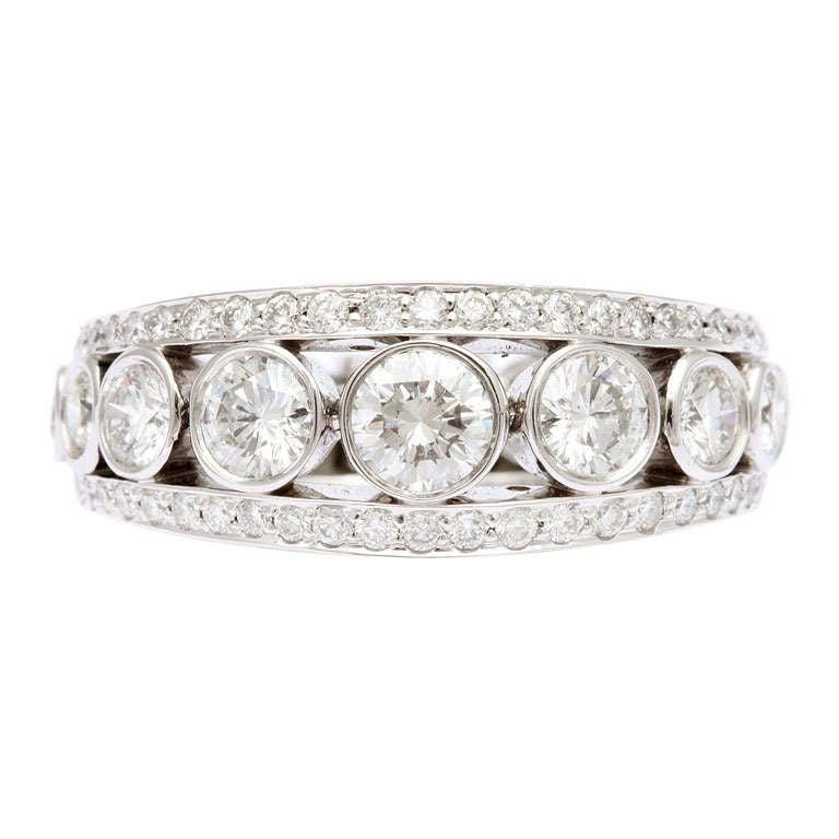 Tanagro Platinum and Diamond Ring