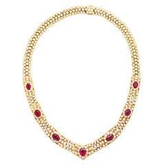 Graff Ruby Diamond Gold Necklace