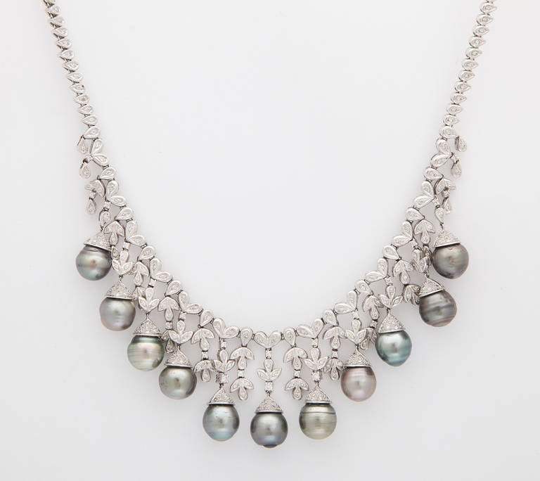 sea index necklace pearl south diamond gold