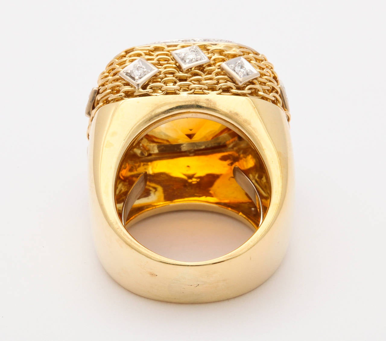 Citrine Diamond Gold Ring 6