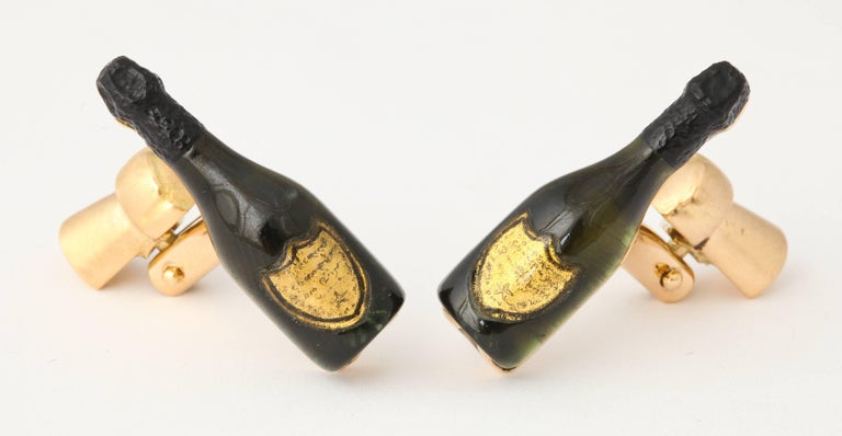 Michael Kanners Champagne Cufflinks In New Condition For Sale In Bal Harbour, FL