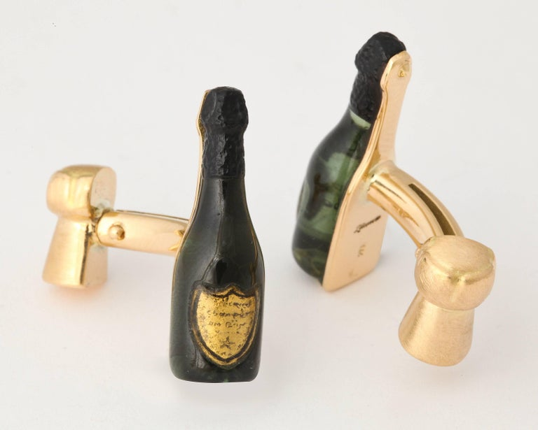 Women's Michael Kanners Champagne Cufflinks For Sale