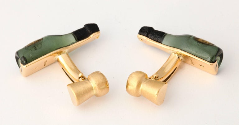 Michael Kanners Champagne Cufflinks For Sale 2