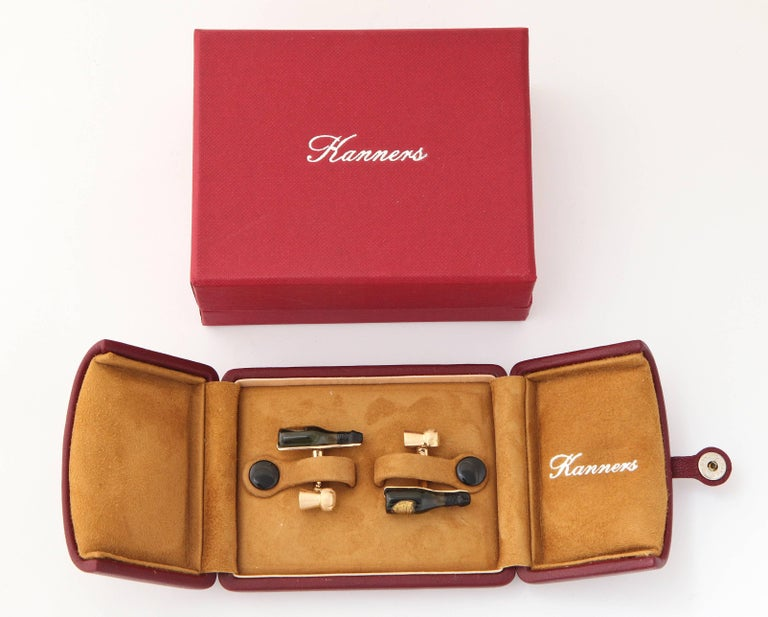Michael Kanners Champagne Cufflinks For Sale 3
