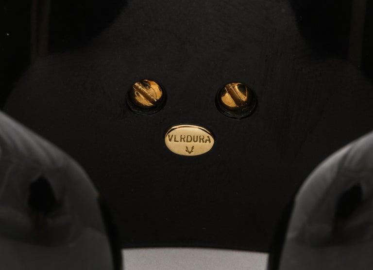 Verdura Black Jade Ruby Sapphire Pearl Diamond Maltese Cross Cuff Bracelet For Sale 5