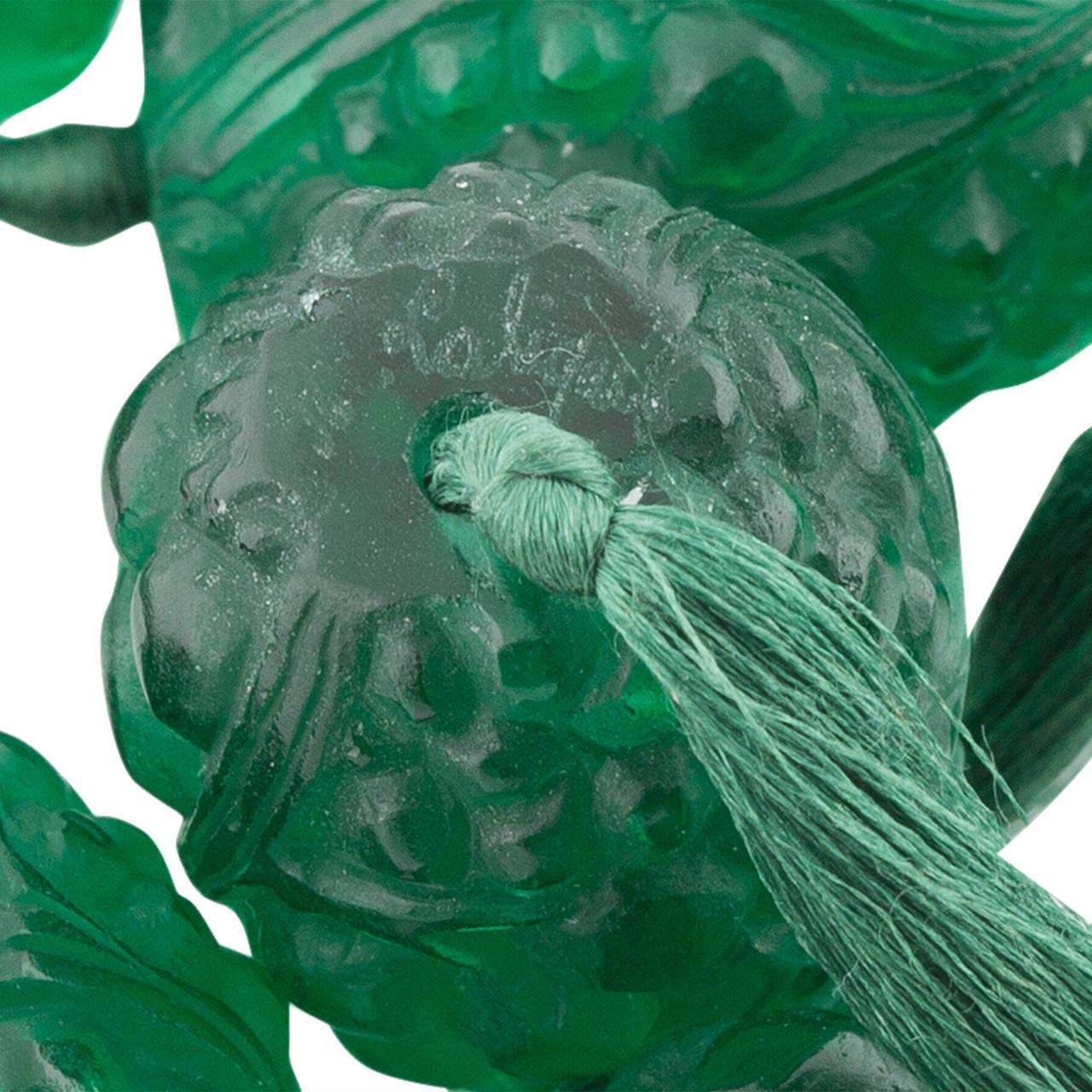 1920s René Emerald Green Lalique Grosses Graines Bead Necklace 3