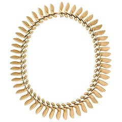 Georg Jensen Gold Necklace Designed by Bent Gabrielsen