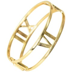 Tiffany & Co. Yellow Gold Atlas Bangle Bracelet