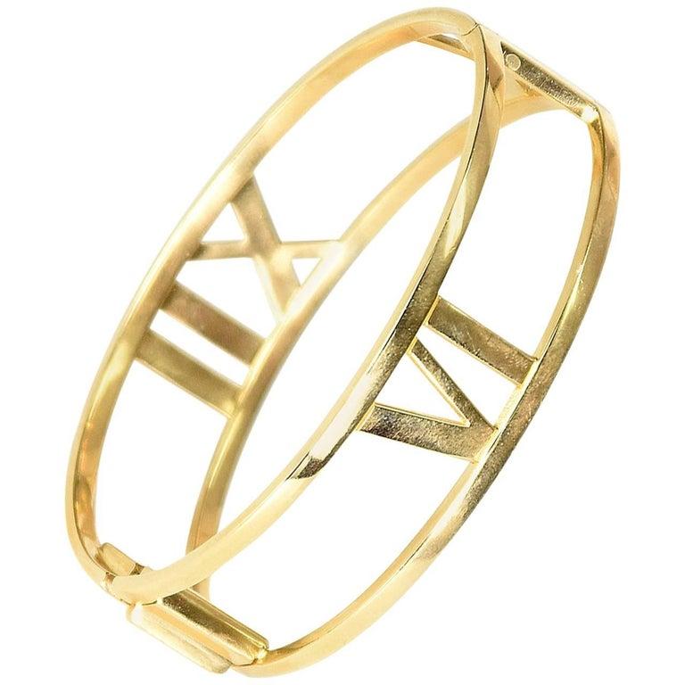 Tiffany & Co. Yellow Gold Atlas Bangle Bracelet