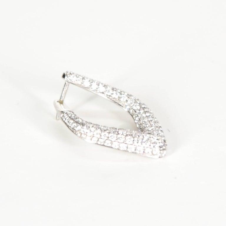 Modernist Triangular Diamond Earrings Set In 18 Carat