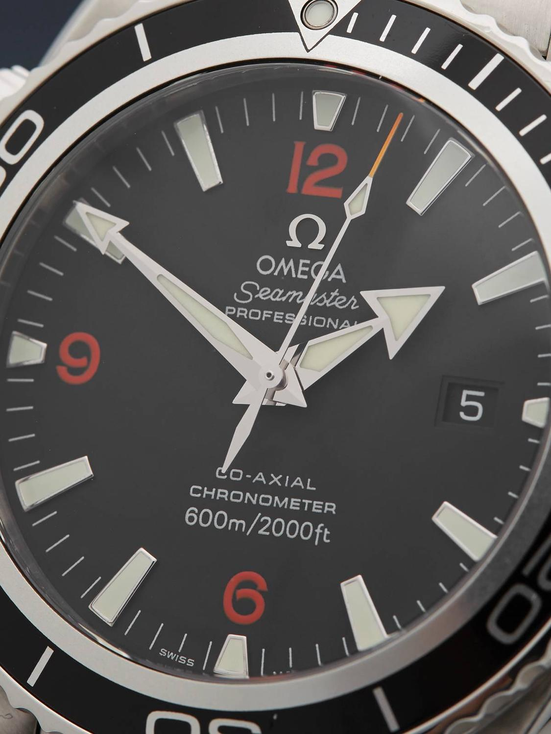 Omega Stainless Steel Seamaster Planet Ocean Co-Axial ...