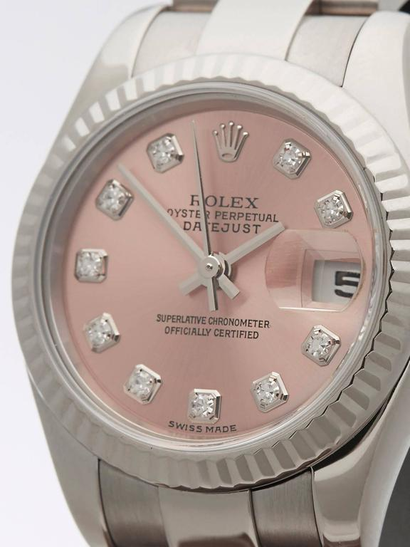 Rolex Ladies White Gold Datejust Original Diamond Dial Automatic Wristwatch 3