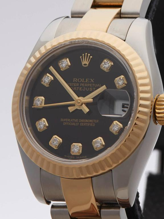 Rolex Datejust Original Diamonds Ladies 179173 Watch In As new Condition For Sale In Bishop's Stortford, GB