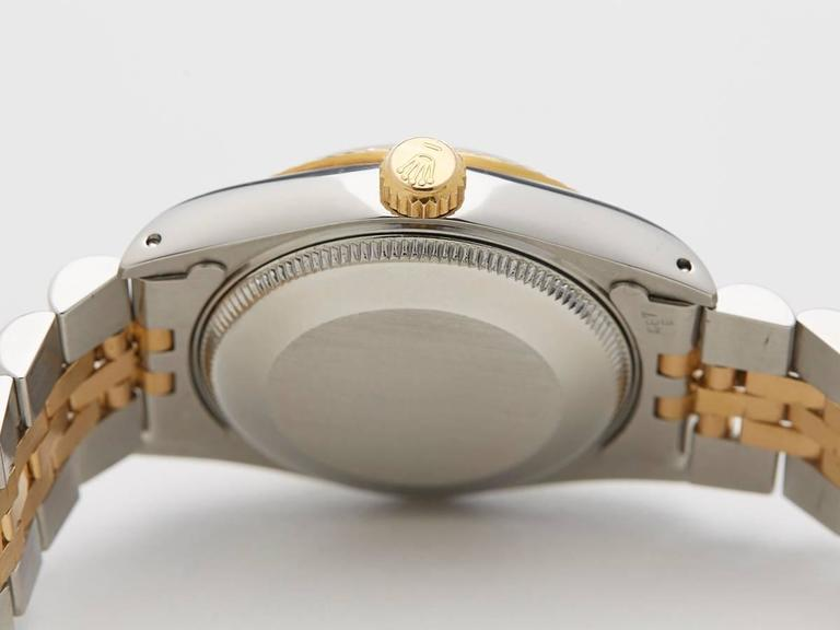 Rolex Ladies Yellow Gold Stainless Steel Datejust Mid Size Automatic Wrist Watch 5