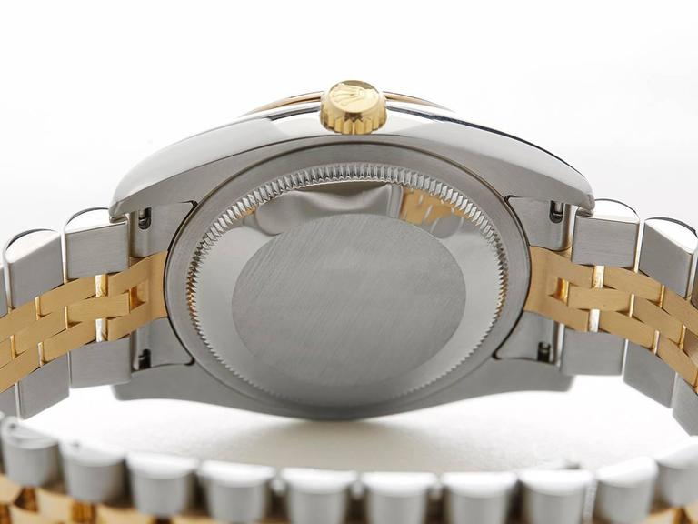 Rolex Yellow Gold Stainless Steel Datejust Turn-o-graph Automatic Wristwatch For Sale 4