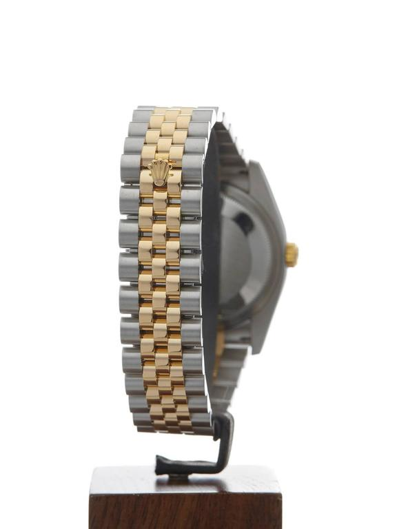 Rolex Yellow Gold Stainless Steel Datejust Turn-o-graph Automatic Wristwatch For Sale 3