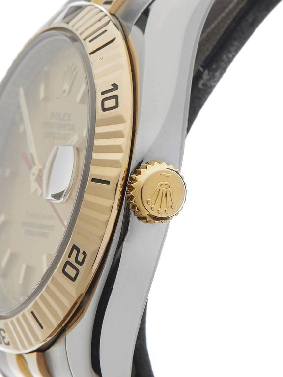 Women's or Men's Rolex Yellow Gold Stainless Steel Datejust Turn-o-graph Automatic Wristwatch For Sale