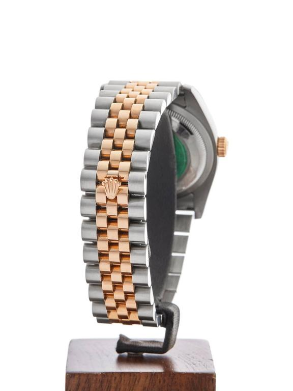 Rolex Rose Gold Stainless Steel Datejust Automatic Wristwatch 116231 2006 For Sale 3