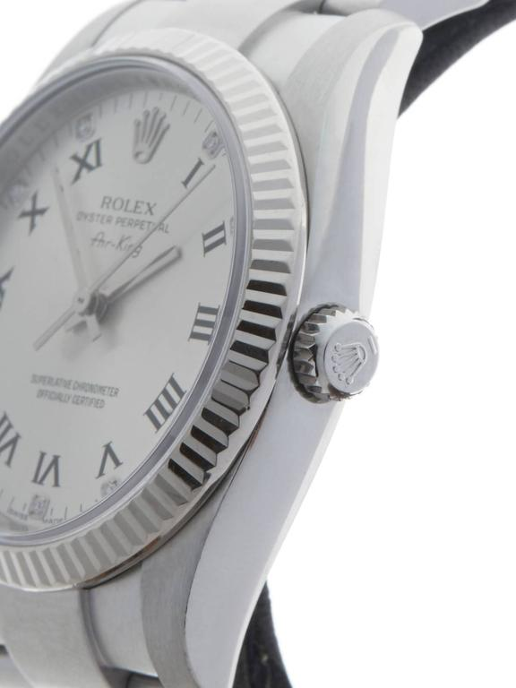 Rolex Air King White Gold Stainless Steel Automatic Wristwatch 114234 2007 4