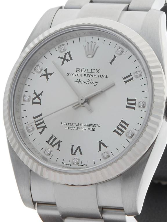 Rolex Air King White Gold Stainless Steel Automatic Wristwatch 114234 2007 3