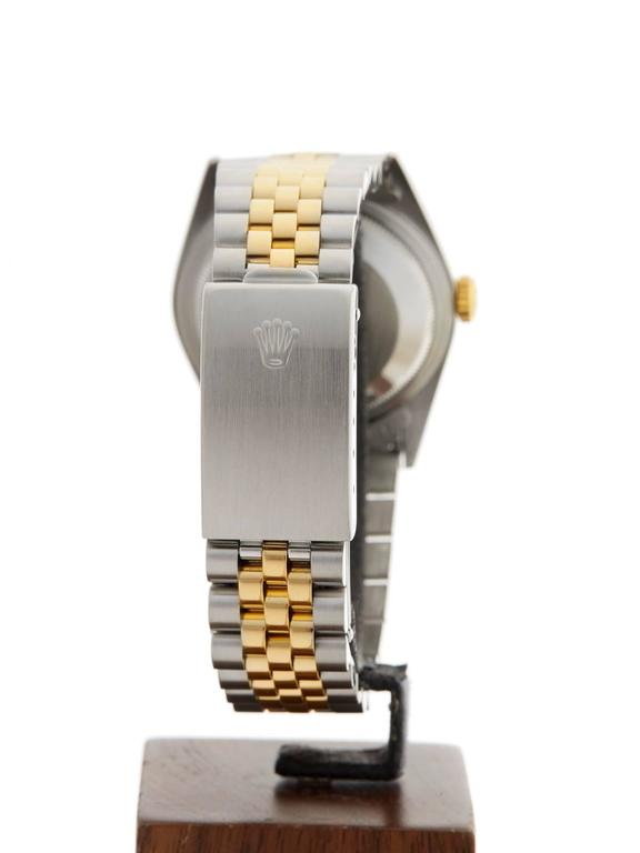 Rolex Yellow Gold Stainless Steel Datejust Diamond Dial Automatic Wristwatch 5