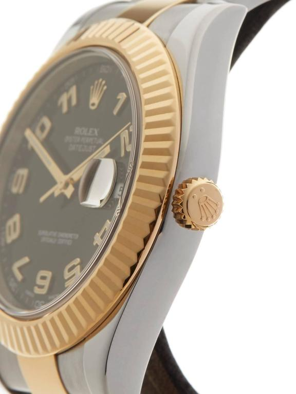 Men's Rolex Datejust II Stainless Steel/18 Karat Yellow Gold Gents 116333, 2013 For Sale