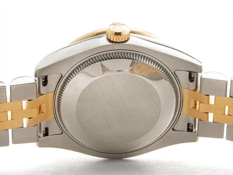 Rolex Datejust Original Diamond Bezel Stainless Steel/18 Karat Gold Ladies 178 8