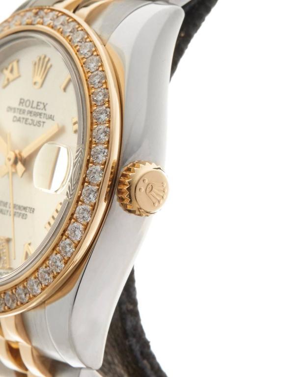Rolex Datejust Original Diamond Bezel Stainless Steel/18 Karat Gold Ladies 178 4