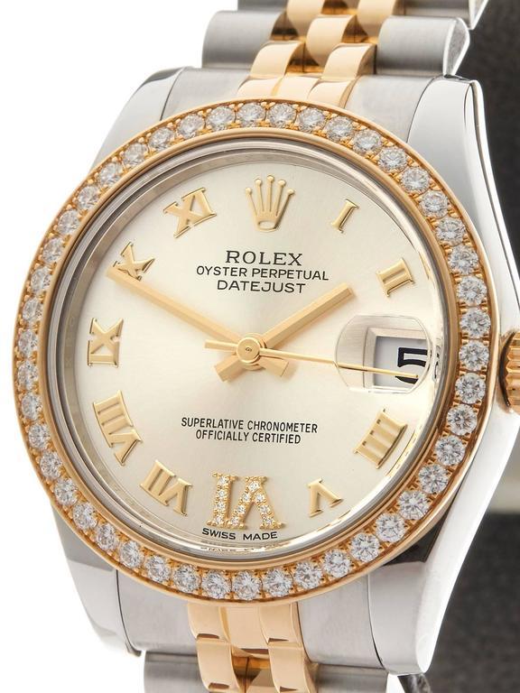 Rolex Datejust Original Diamond Bezel Stainless Steel/18 Karat Gold Ladies 178 3