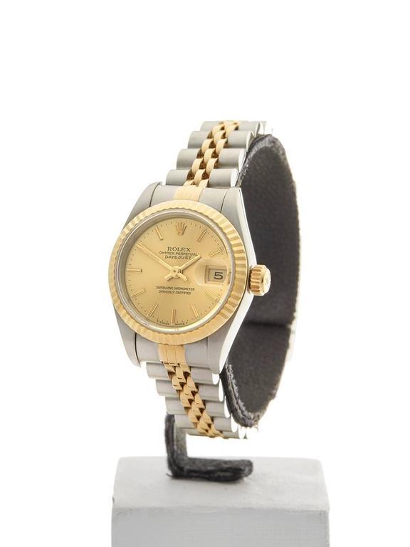 Rolex Datejust Stainless Steel/18K Yellow Gold Ladies 69173 2