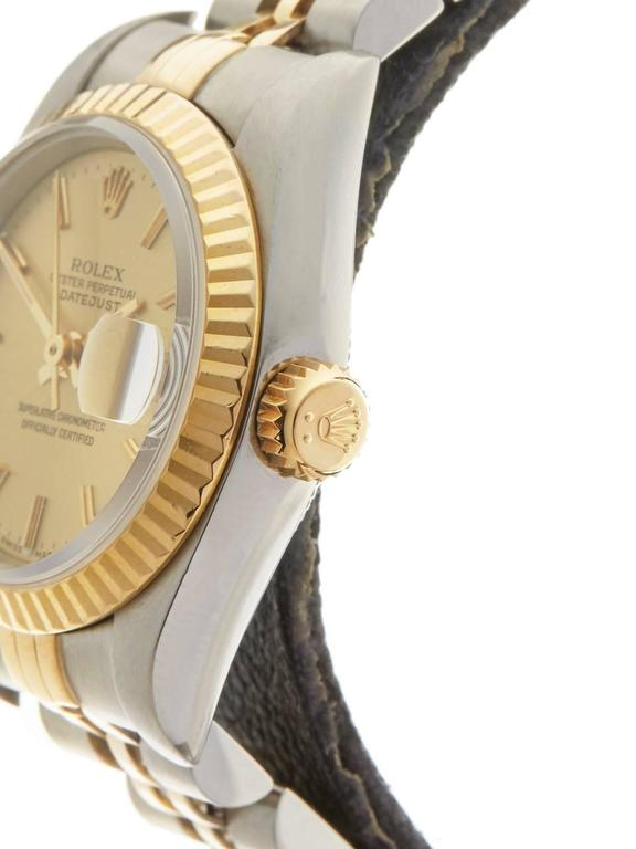 Rolex Datejust Stainless Steel/18K Yellow Gold Ladies 69173 4