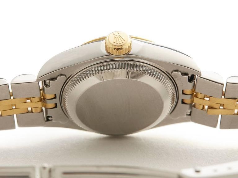 Rolex Datejust Stainless Steel/18K Yellow Gold Ladies 69173 8