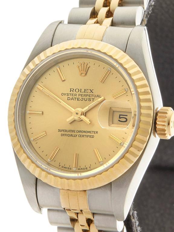 Rolex Datejust Stainless Steel/18K Yellow Gold Ladies 69173 3