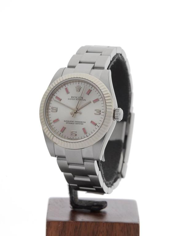 REFW3686 MODEL NUMBER177234 SERIAL NUMBER247***** CONDITION10 - Unworn condition GENDERLadies AGE9th February 2017 CASE DIAMETER32 mm CASE SIZE32mm BOX & PAPERSBox, Manuals & Guarantee MOVEMENTAutomatic CASEStainless steel/18k white