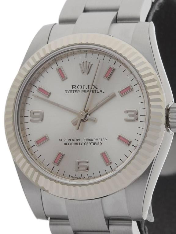 Rolex Oyster Perpetual Ladies 177234 Watch In As new Condition For Sale In Bishop's Stortford, GB